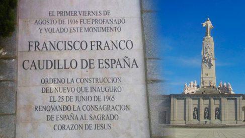 La placa del Cerro de los Ángeles que la alcaldesa de Getafe le pide al Obispo que retire.