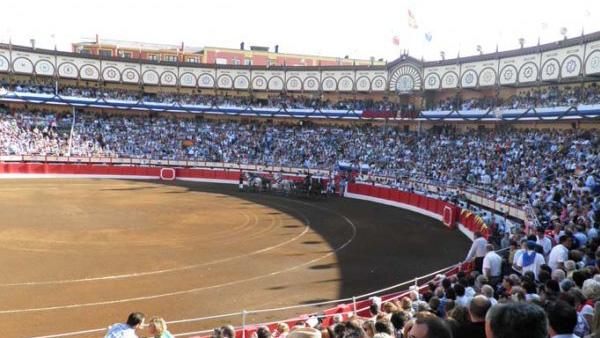 Panorámica de la plaza de toros de Santander.