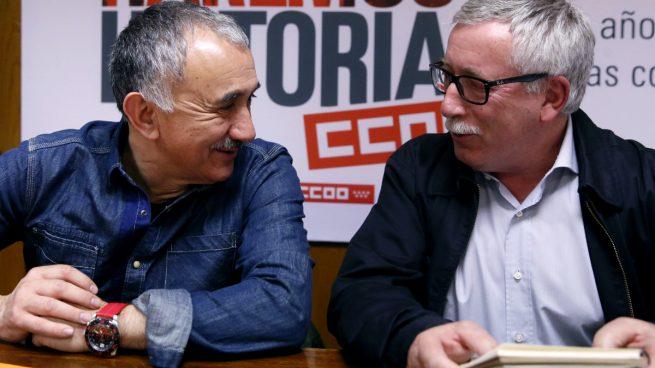Los secretarios de UGT y CCOO, Josep María Álvarez e Ignacio Fernández Toxo