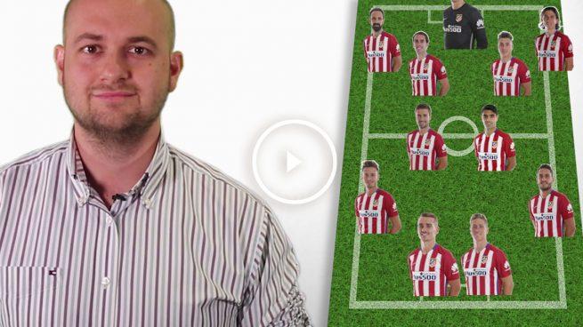 Alineación del Atlético: músculo en el medio y rapidez arriba