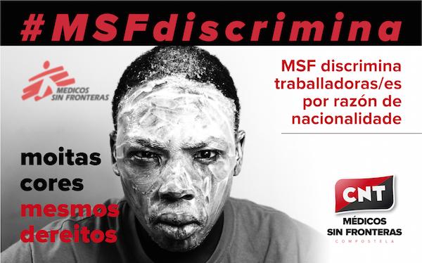 Campaña de protesta de CNT contra MSF.