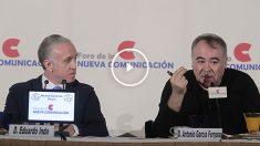 El director de Al Rojo Vivo, Antonio García Ferreras, y el director de OKdiario, Eduardo Inda