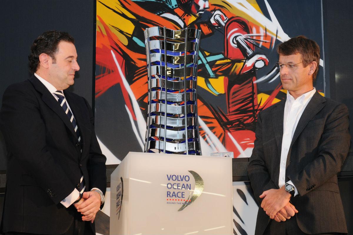 Gerardo Camps (z la izquierda) en la presentación de la Volvo Ocean race de Alicante (Foto: Getty)