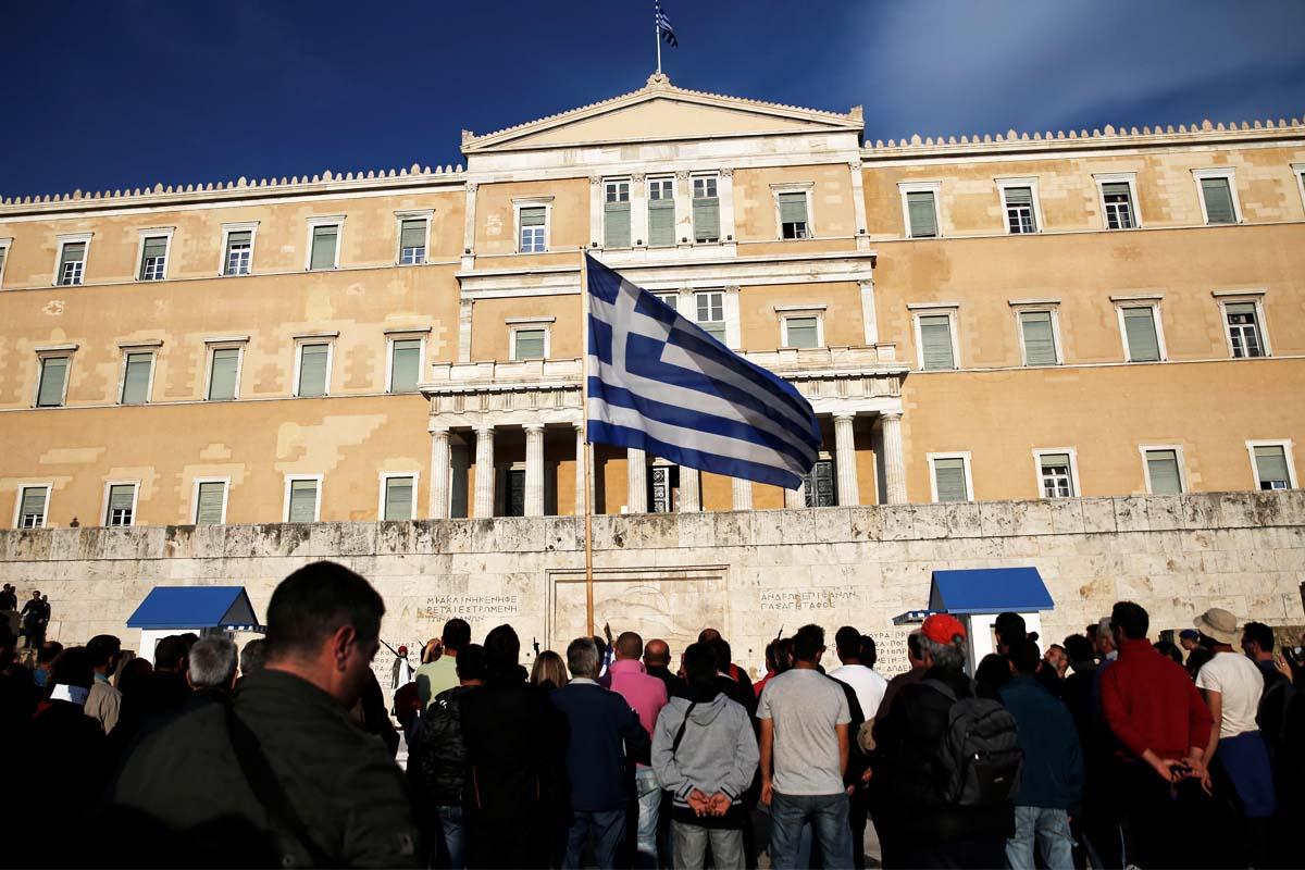 Manifestantes en Atenas contra las reformas a debate (Foto: Reuters)