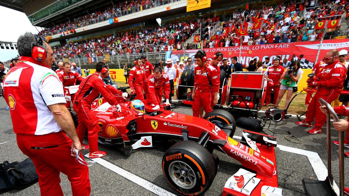 Las gradas de Montmeló, repletas de público en una carrera de Fórmula 1. (Getty)