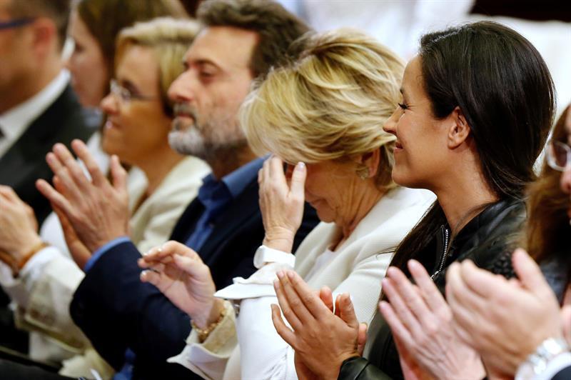 Aguirre, junto a Causapié, Valeinte y Villacís en la presentación del Comisionado. (Foto: EFE)