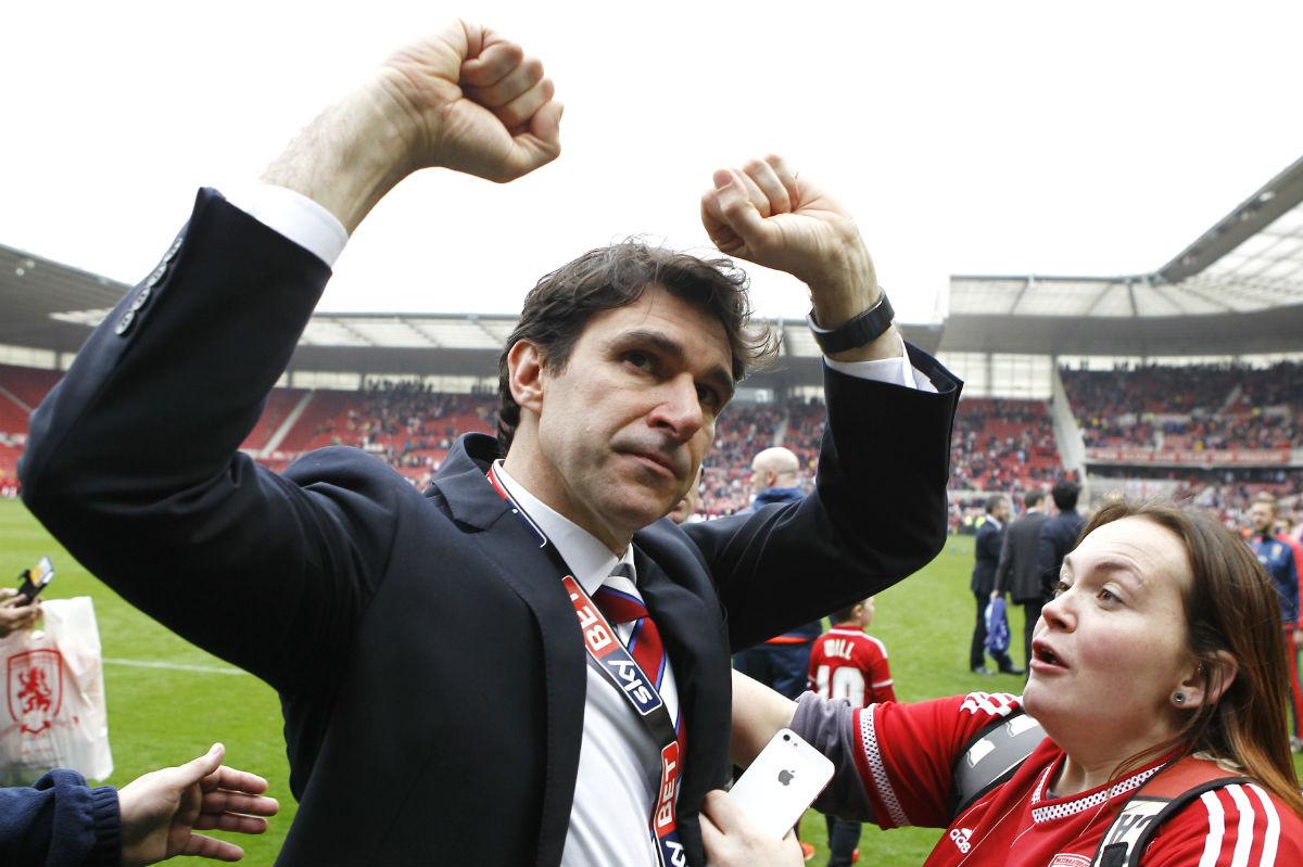 Aitor Karanka celebra el ascenso del Middlesbrough. (AFP)