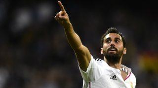 Arbeloa celebra un gol en el Bernabéu. (AFP)