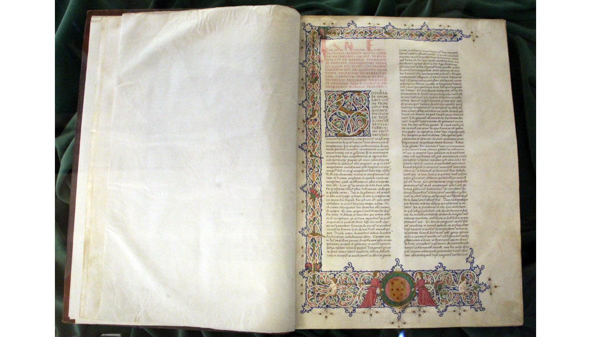 Una copia del tratado De Animalibus, de Aristóteles, propiedad del Vaticano. (Foto:WCC)