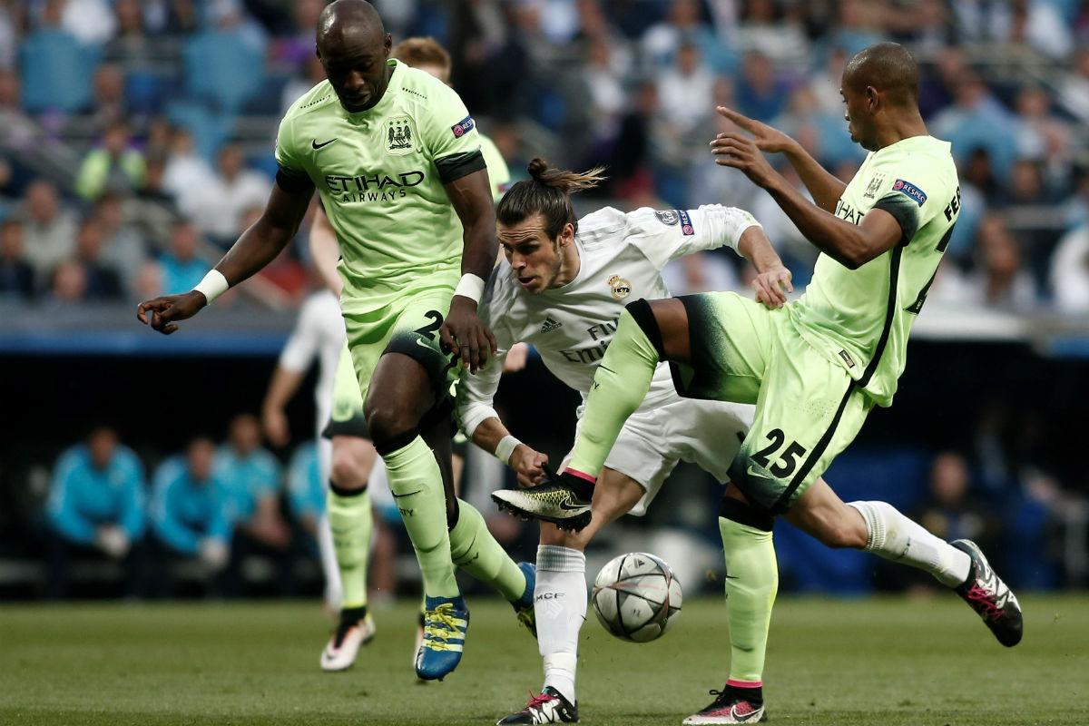 Bale, en el partido contra el Manchester City. (Getty)