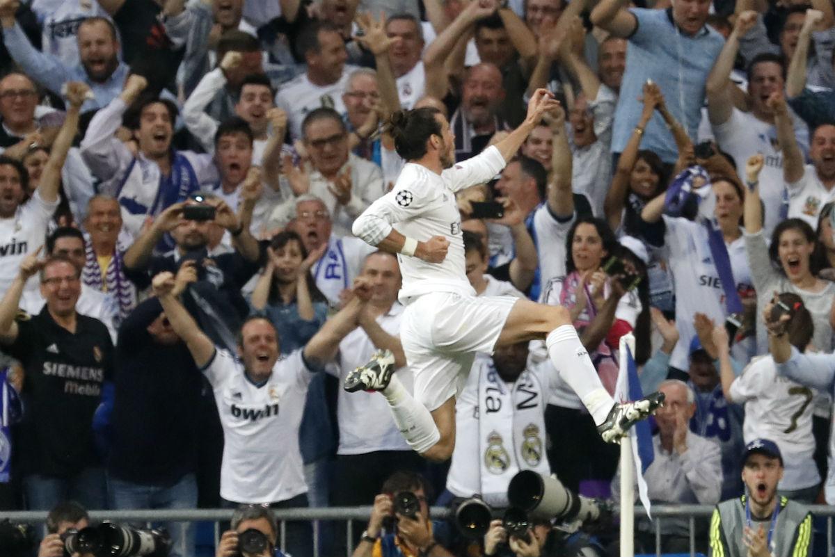 Bale celebra el 1-0 del Real Madrid. (Reuters)