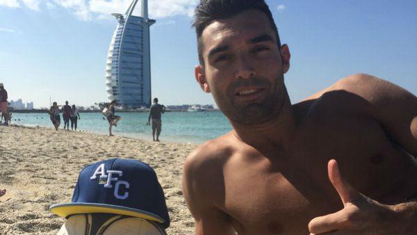 David Barral disfruta en las playas de Dubai.