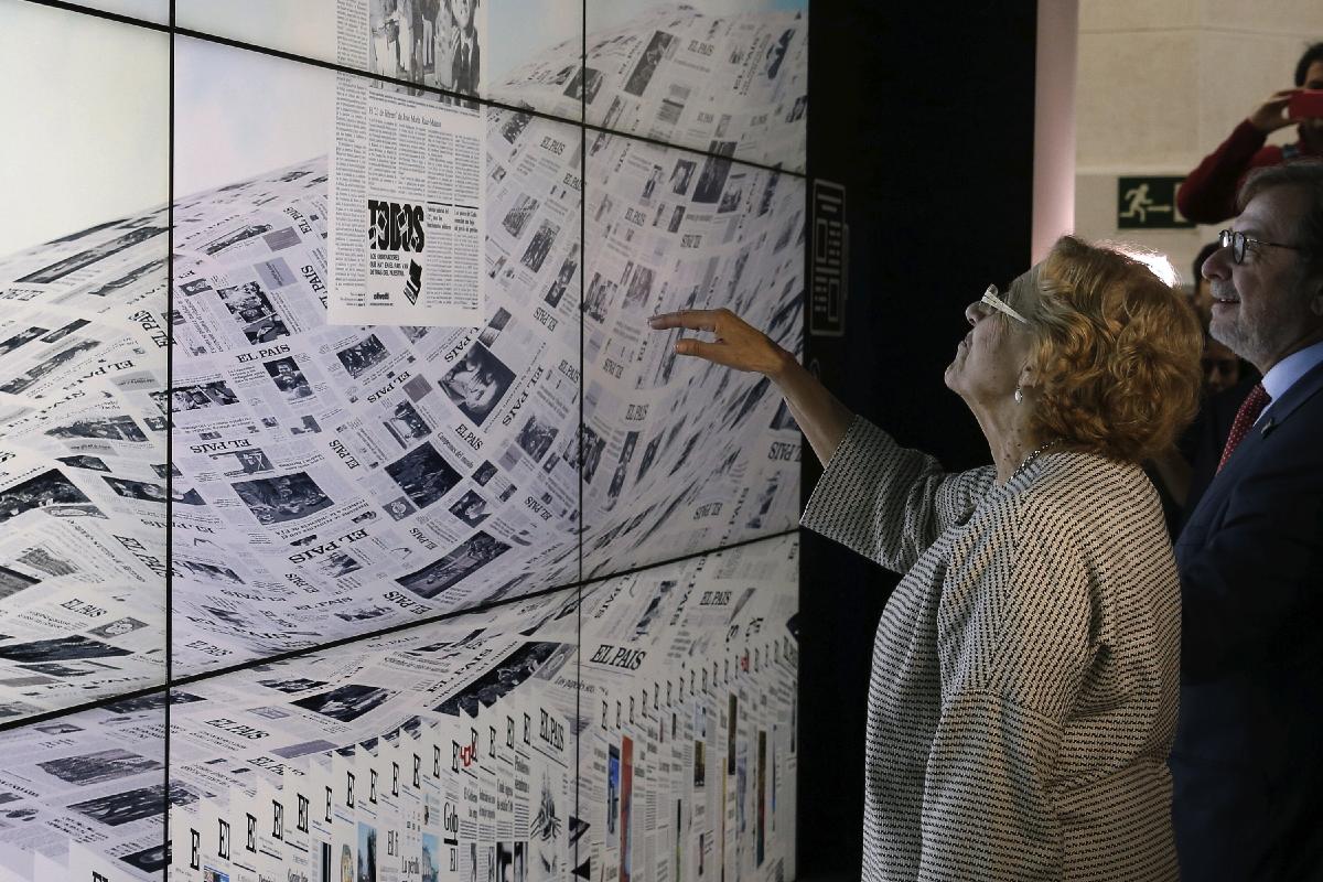 La alcadesa Carmena en una exposición. (Foto: EFE)