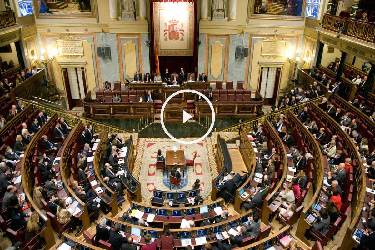 Panorámica del Congreso de los Diputados.