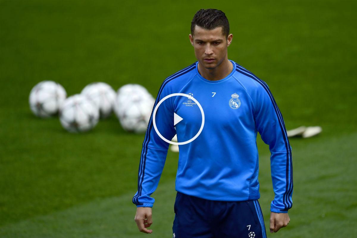 Cristiano Ronaldo se ejercitó con el grupo. (AFP)
