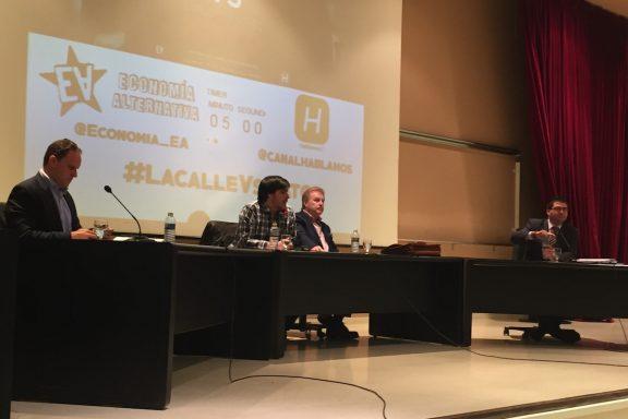 Debate entre Daniel Lacalle y Carlos Sánchez Mato (Foto: A.J. CHINCHETRU).