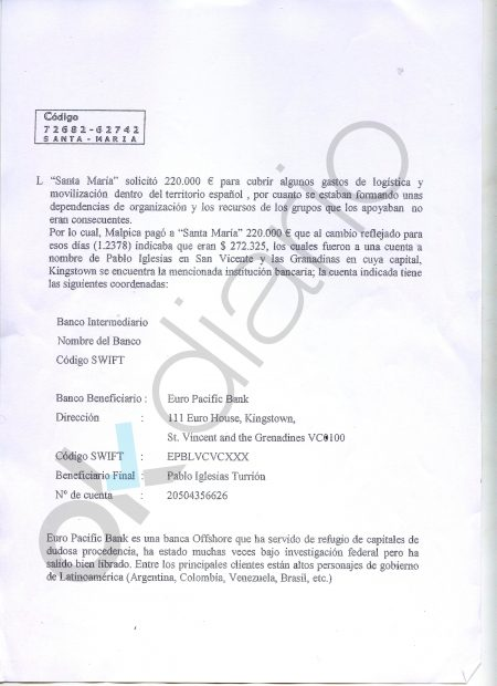 El G2 cubano detalló el pago de 272.000 $ de Maduro a Pablo Iglesias, alias 'Santa María'