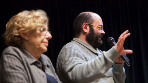 Único acto que han compartido Carmena y Pablo Carmona en toda la legislatura. (Foto. Ayuntamiento)