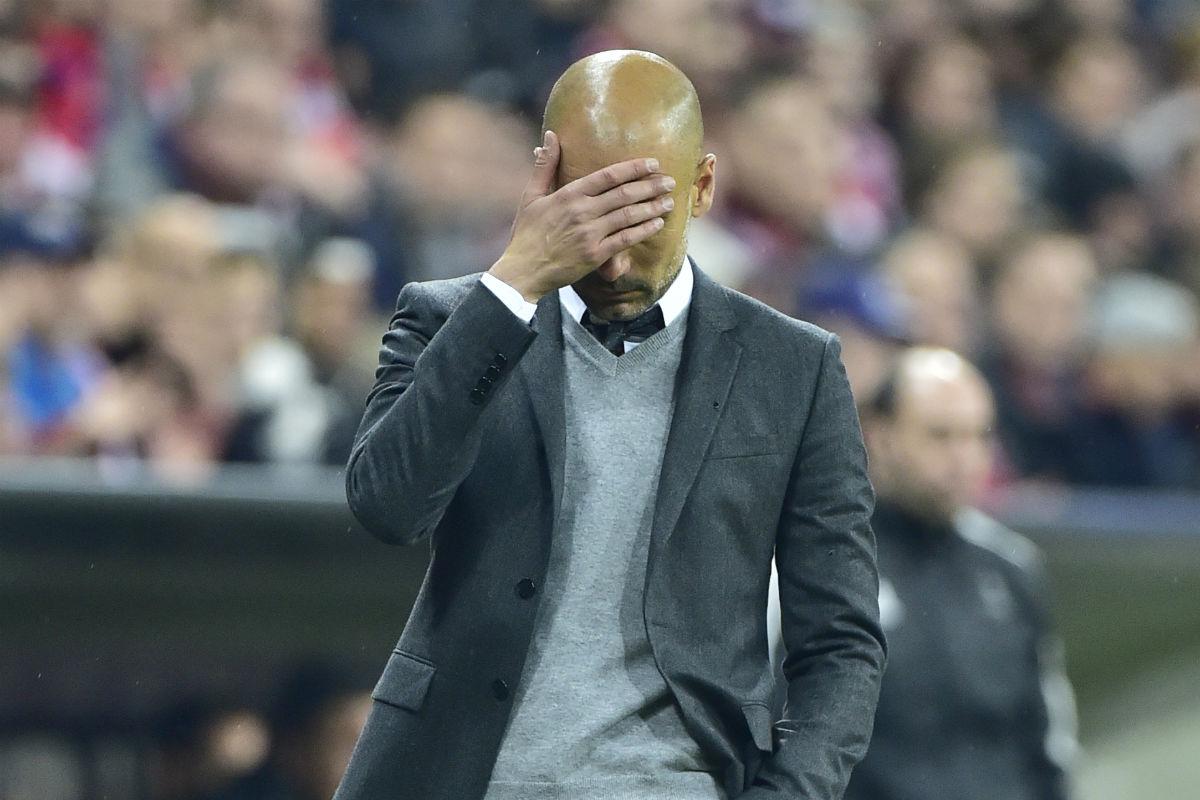 Guardiola volvió a fracasar en semifinales. (AFP)