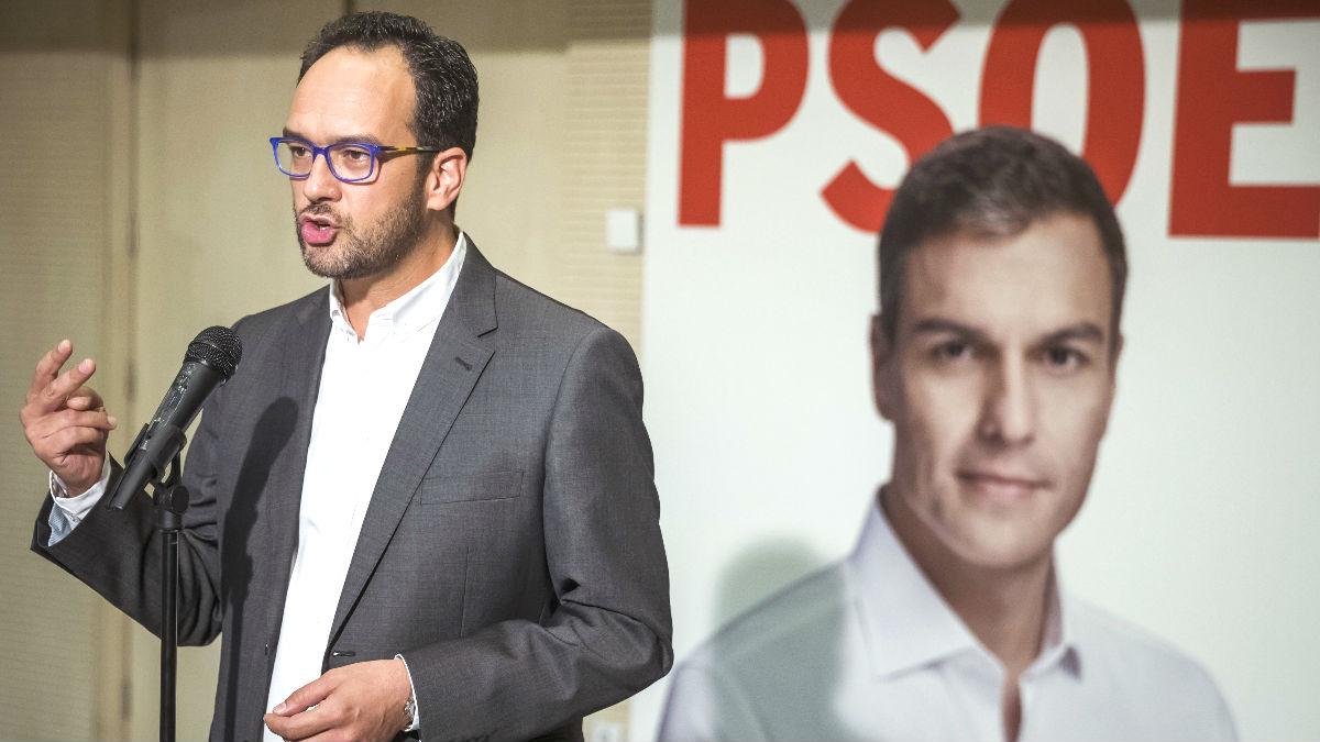El portavoz del Comité Electoral del PSOE, Antonio Hernando (Foto: Efe)