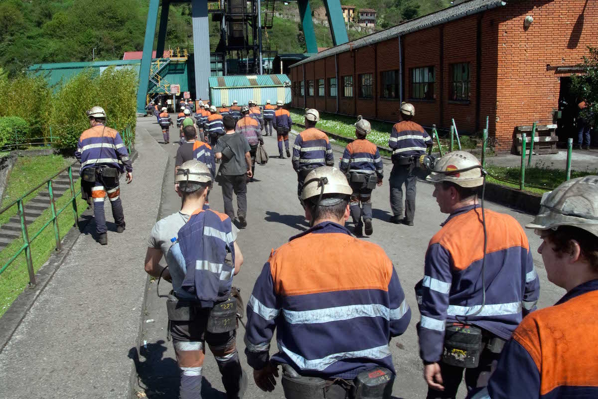 Mineros de Hunosa (Foto: HUNOSA).