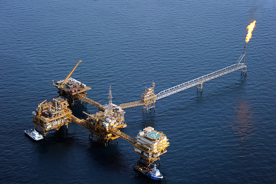 Explotación petrolera iraní en el Golfo Pérsico (Foto: NIOC).