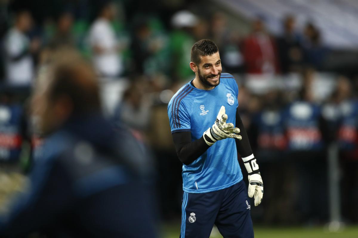 Kiko Casilla durante los momentos previos a un duelo de Champions con el Madrid. (AFP)