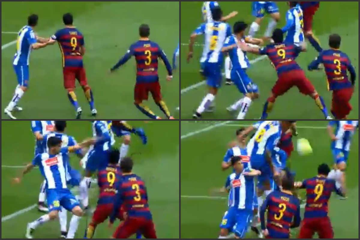 Luis Suárez marcó tras hacer falta.
