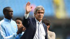 Manuel Pellegrini, en su despedida del Etihad Stadium. (Getty)