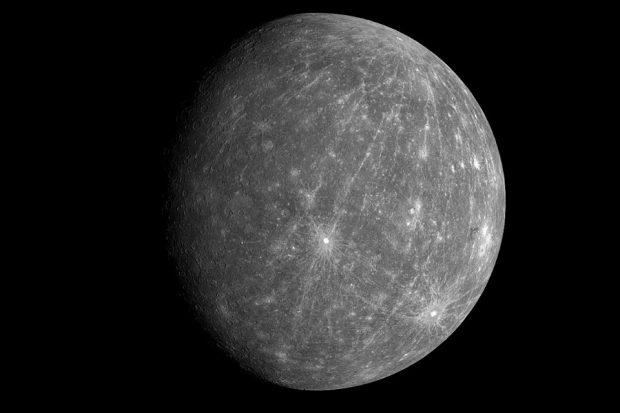 Mercurio es el planeta más pequeño del Sistema Solar, con un diámetro de 4.780 km tarda sólo 88 días en dar la vuelta al Sol. (Foto: AFP)