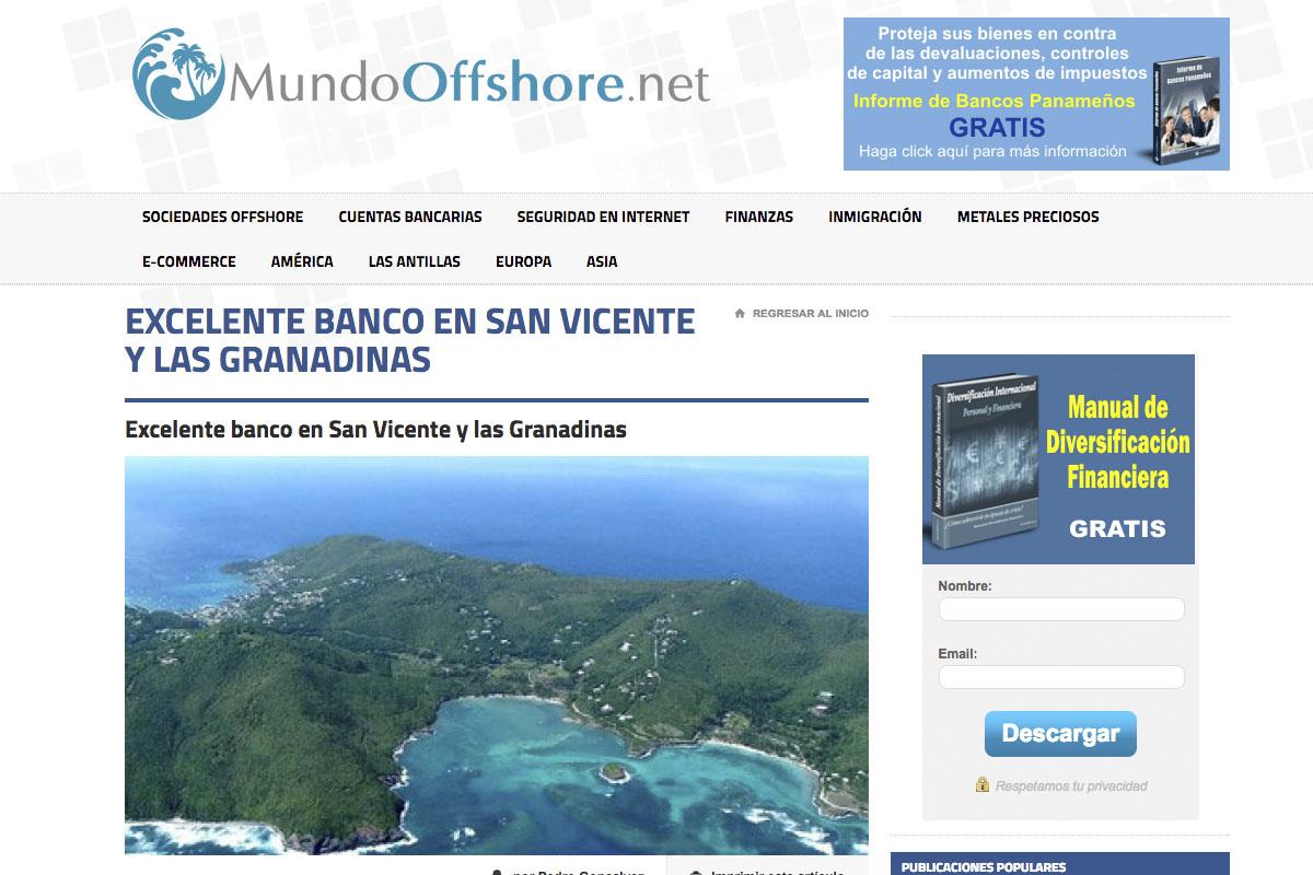 El portal Mundo Offshore sobre Euro Pacific Bank.