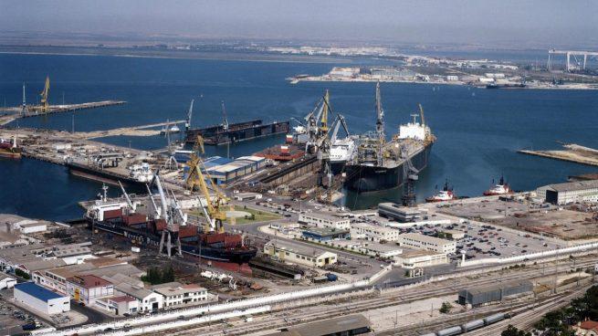 Factoría de Navantia en Cádiz