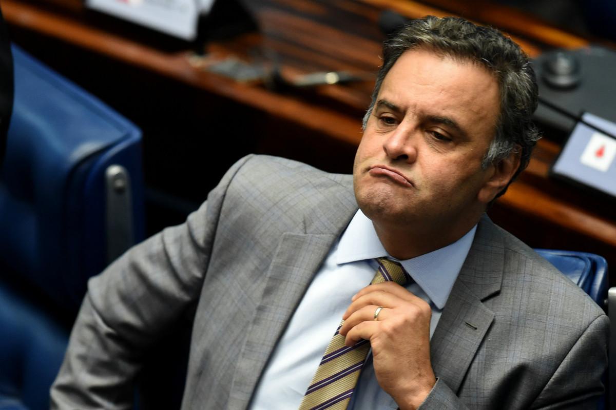 Aécio Neves, líder de la oposición en Brasil. (AFP)