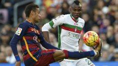 Neymar, en el partido de la primera vuelta contra el Granada. (AFP)