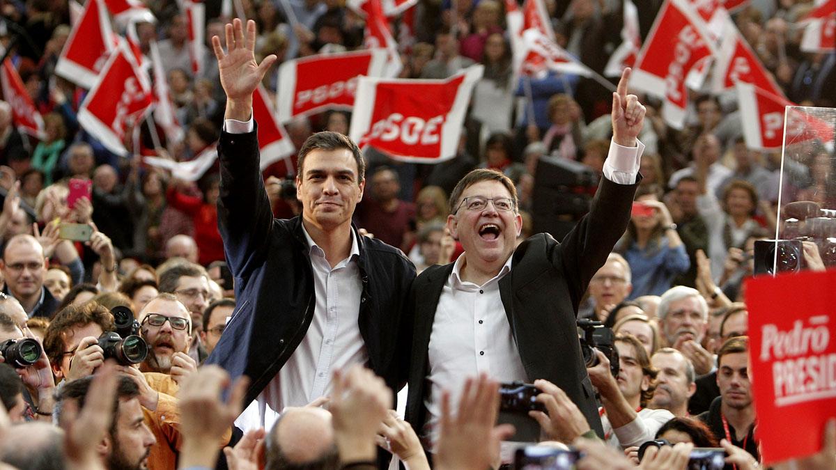 Pedro Sánchez y Ximo Puig. (Foto: AFP)