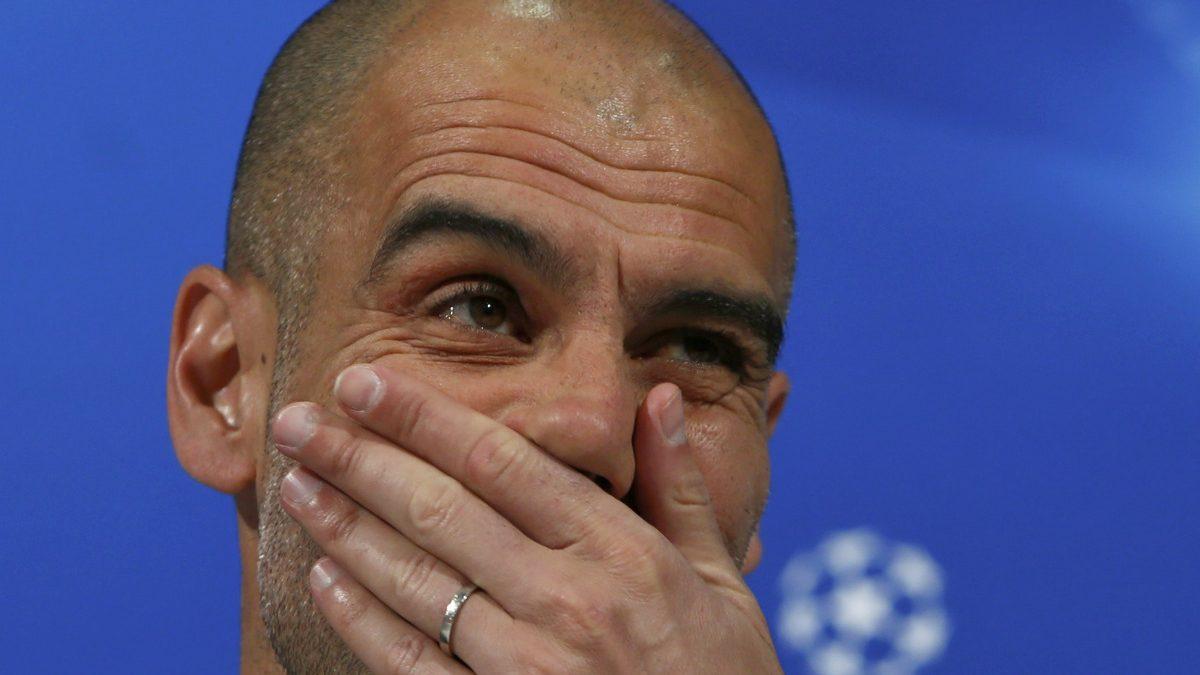 Pep Guardiola, en la rueda de prensa previa al Bayern-Atlético. (Reuters)