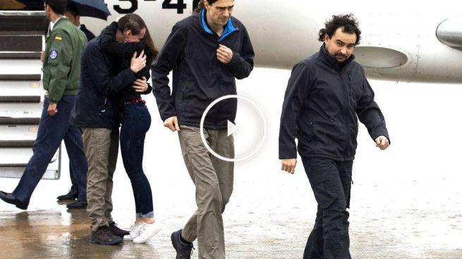 Los tres periodistas liberados en Siria ya se encuentran en España