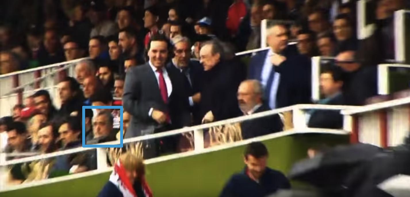 Paco Pérez, pillado con entre otros el presidente del Real Madrid, Florentino Pérez. (Foto: MP)