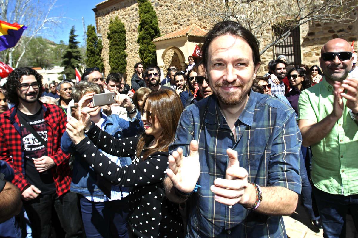 Pablo Iglesias, este domingo en Puertollano (Foto: Efe).