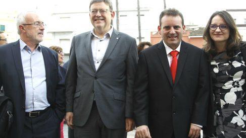 Antonio Montiel, Ximo Puig y Mónica Oltra.