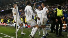 Los jugadores del Real Madrid celebran uno de los goles al Wolfsburgo. (Reuters)