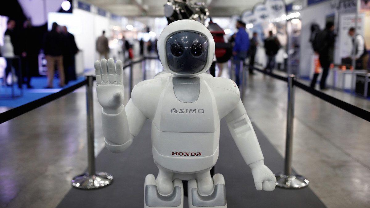 Robot Asimo en una feria en Madrid (Foto: getty).