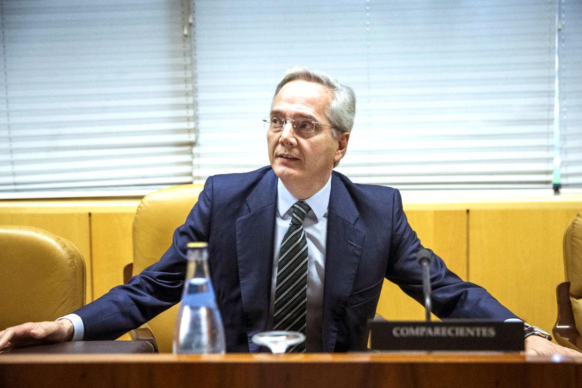 Pedro Gómez de la Serna durante su comparecencia en la Asamblea de Madrid (Foto: Efe).