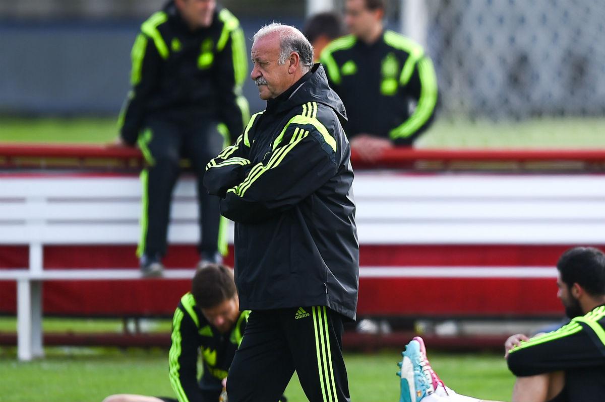 Vicente del Bosque, en un entrenamiento de la Selección. (Getty)