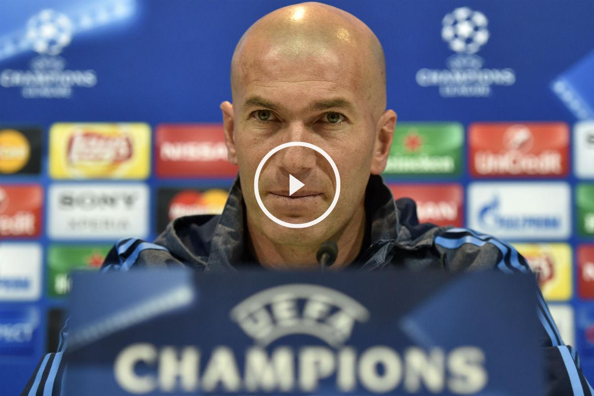 Zidane, en la rueda de prensa previa al partido contra el City. (AFP)