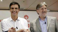 Sánchez y Pérez Tapias, durante su carrera por la Secretaría general del PSOE.