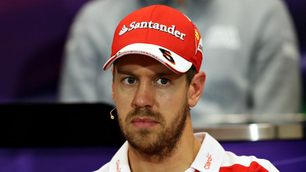 Sebastian Vettel empieza a notar la presión que significa ser piloto de Ferrari y no ganar. (Getty)