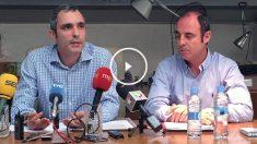 Juan Andrés García y Juan Alonso Márquez, cooperativistas de Residencial Maravillas.