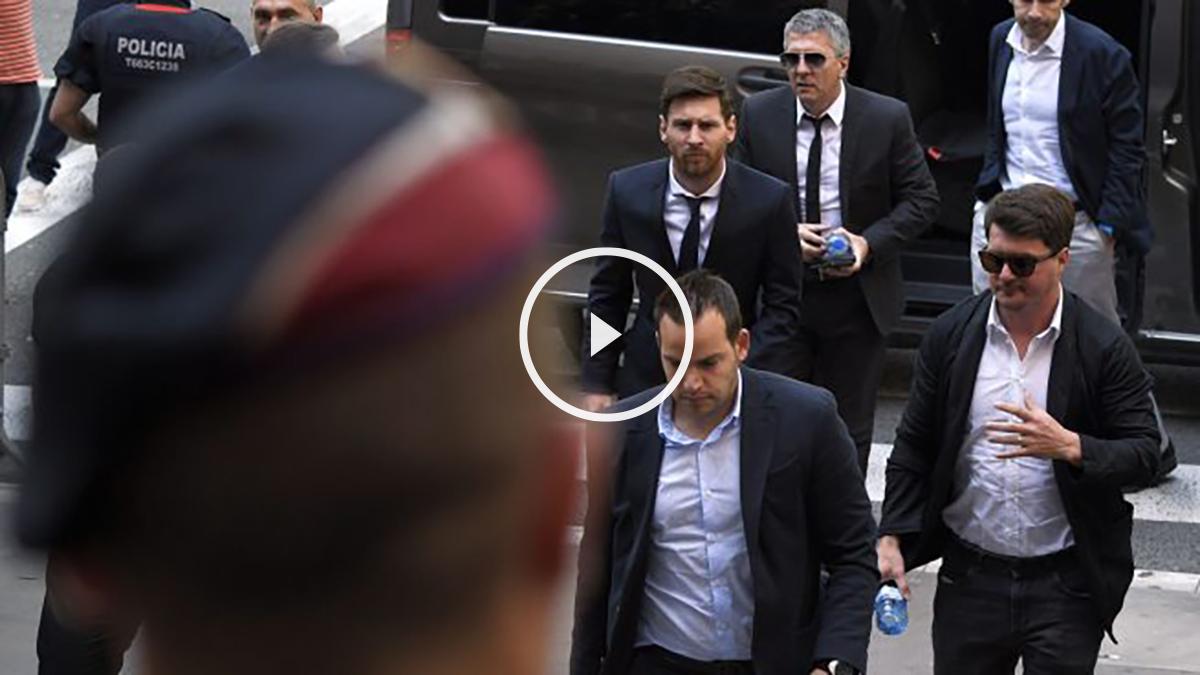 Messi declara en la Audiencia Nacional