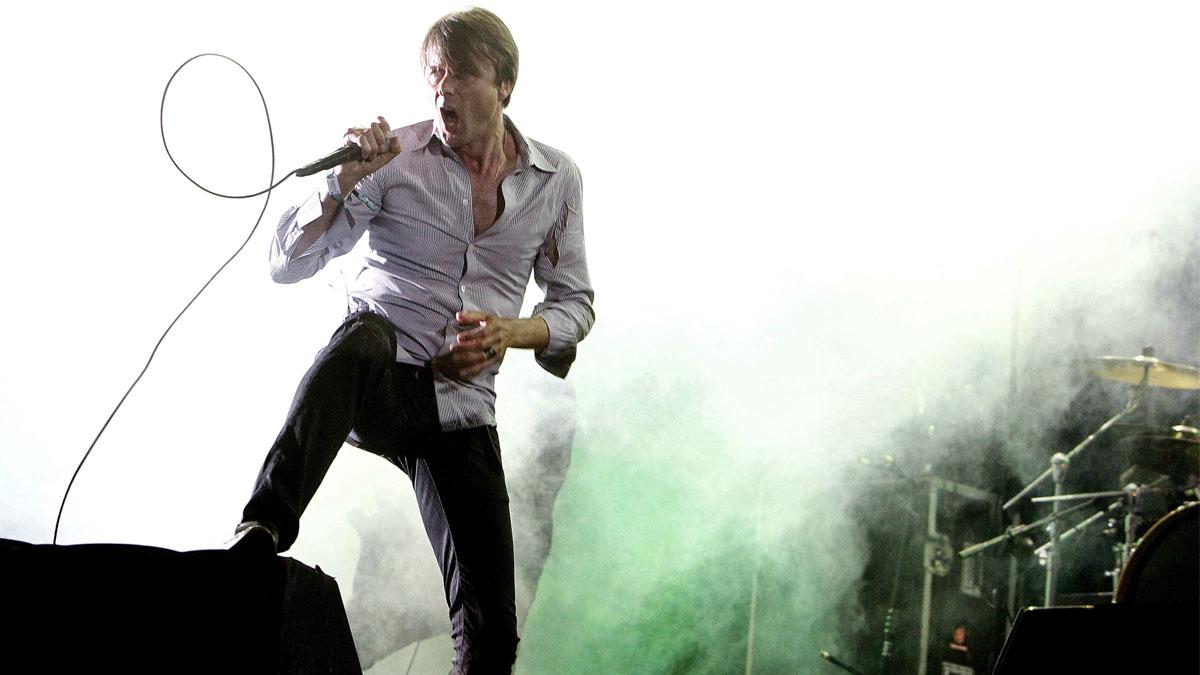 Bret Anderson, cantante de Suede, en el Primavera Sound. (Foto: EFE)